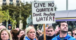 Irish water charges protest