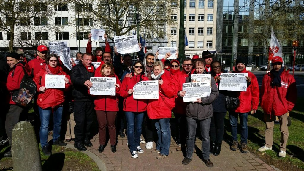 Actie van ACOD LRB in Brussel. (foto van ACOD)