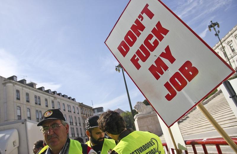 Solidariteit met staking Portugese dokwerkers