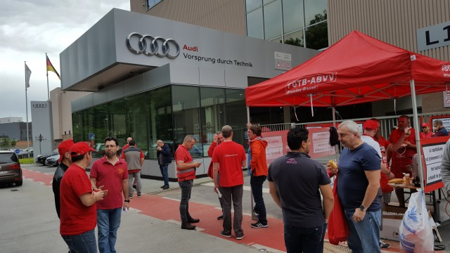 Productie bij Audi Vorst stilgelegd vandaag