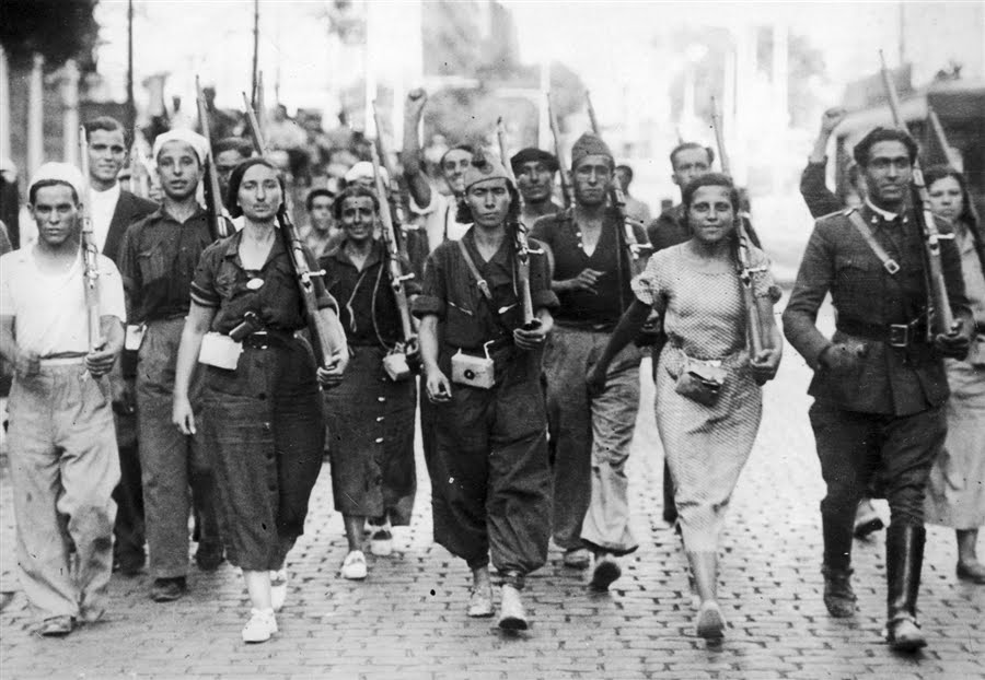 1936: revolutionaire hoop in Spanje
