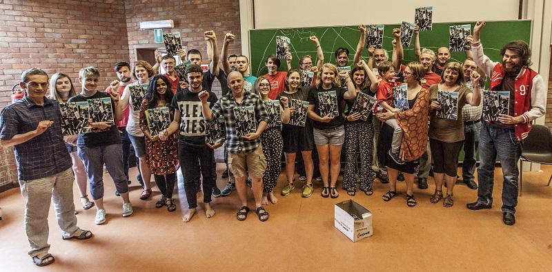Bijeenkomst op onze zomerschool van medewerkers aan Bad Art magazine. Foto: Natalia Medina