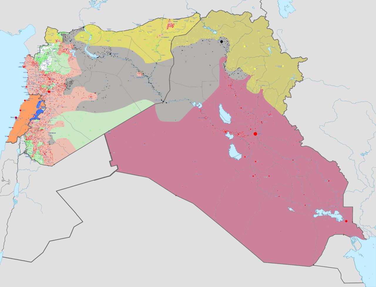 Midden-Oosten: het tanende 'kalifaat' van Islamitische Staat