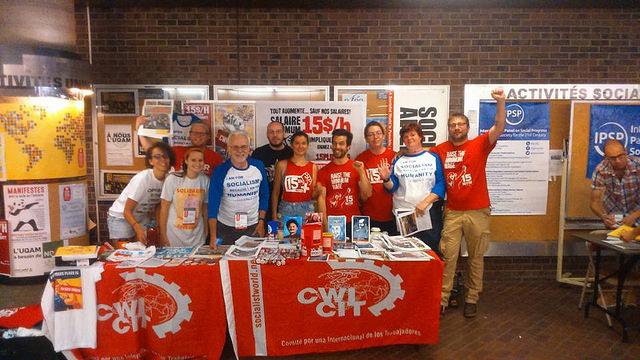 Het Committee for a Workers' International (CWI), de internationale organisatie waarvan LSP de Belgische afdeling is, was op het WSF aanwezig met leden uit de VS, Canada, Québec en België. De foto hierboven toont een deel van ons team.