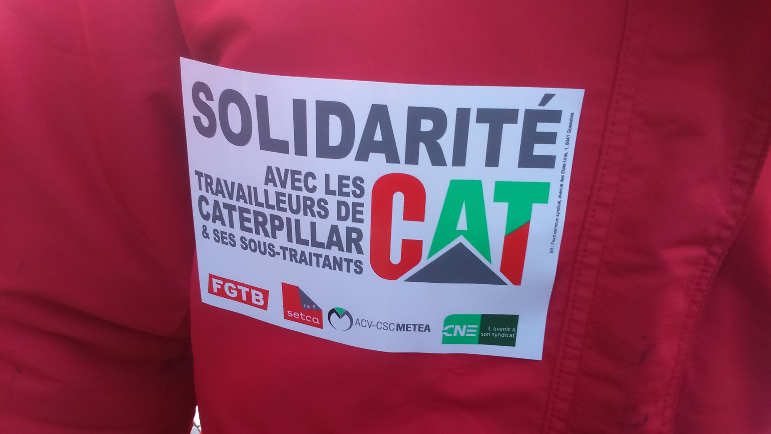 Solidariteitsmars met arbeiders van Caterpillar