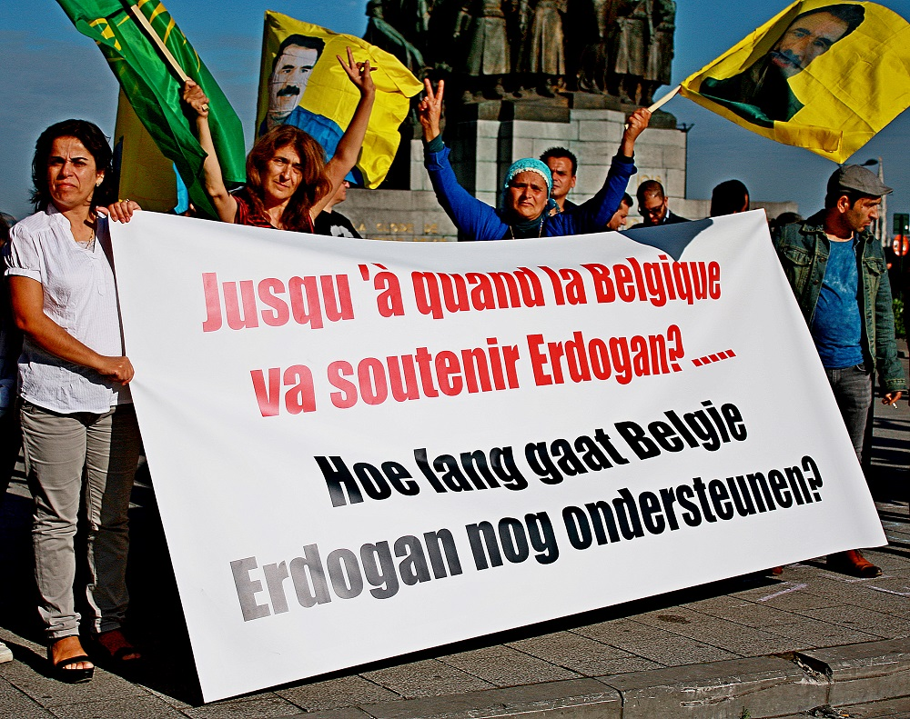 Actie tegen de criminalisering van de Koerdische beweging in ons land