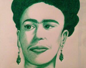 Tekening van Frida door Valeriya