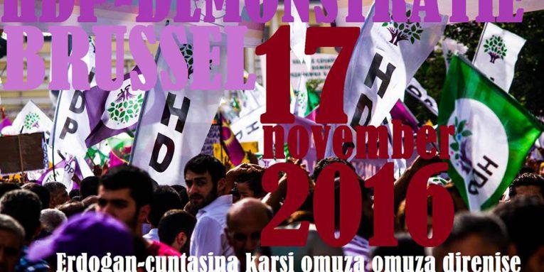 Donderdag Europese betoging tegen dictator Erdogan