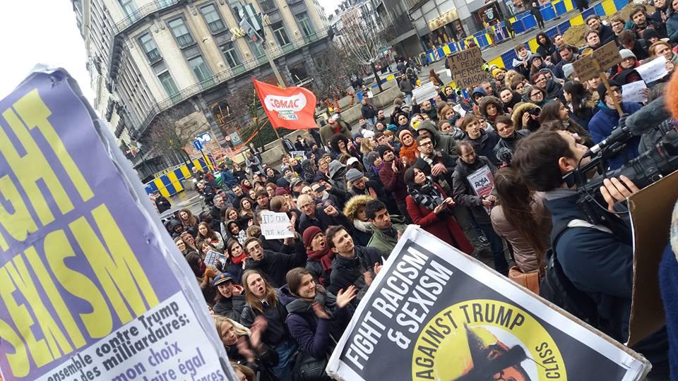Ook in Brussel protest tegen inreisverbod voor moslims en vluchtelingen in de VS