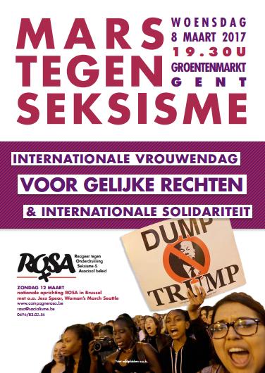 Oproep voor mars tegen seksisme in Gent op de internationale vrouwendag