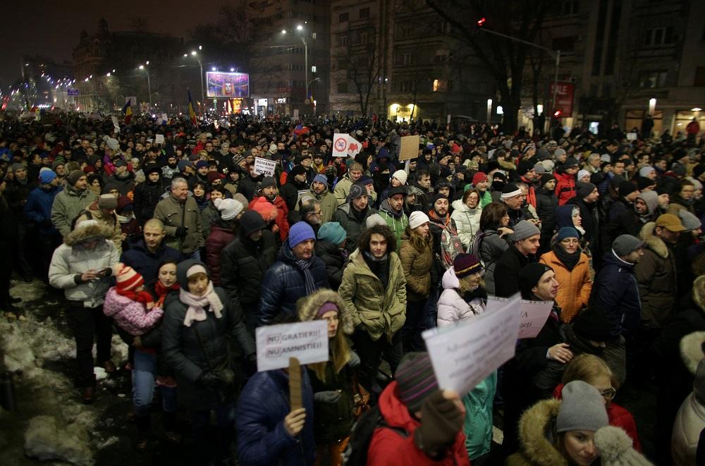 Roemenië: grootste straatprotesten sinds 1989