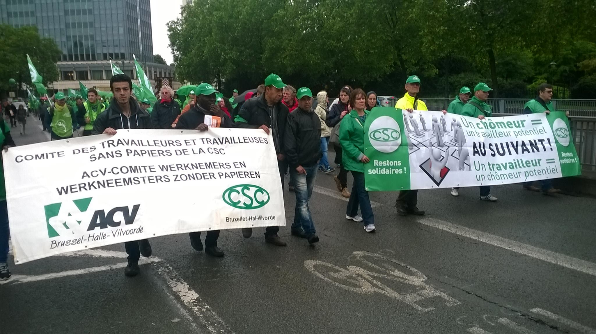 Mensen-zonder-papieren in actie tegen sociale dumping en onmenselijke arbeidsvoorwaarden