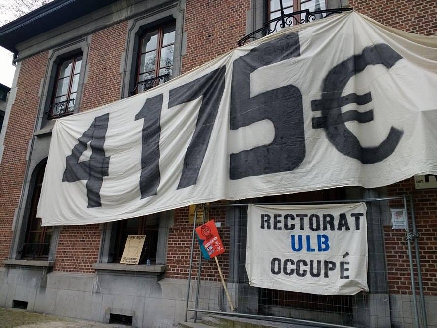 4.175 euro inschrijvingsgeld voor buitenlandse studenten? Bezetting rectoraat ULB!