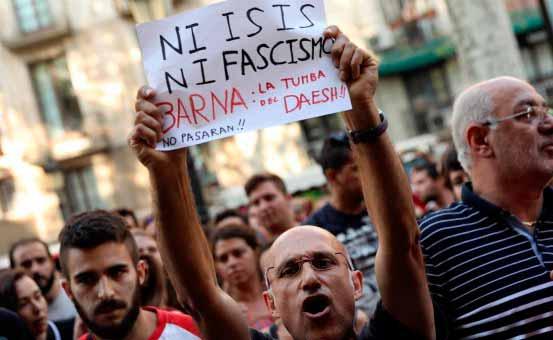 Bloedbad in Barcelona: solidariteit met de slachtoffers