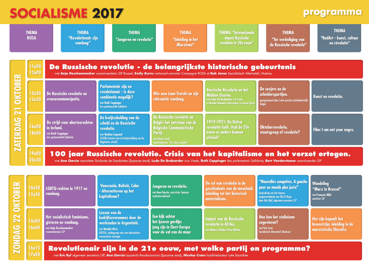 Programma van Socialisme 2017: ideeën om de wereld te veranderen
