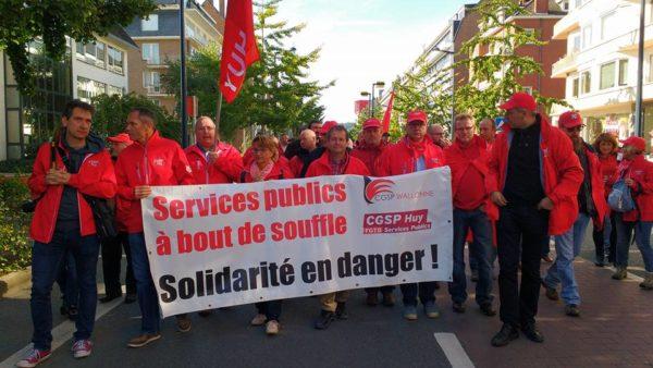 ACOD betoogt in Namen: openbare diensten verdedigen, staking 10 oktober voorbereiden