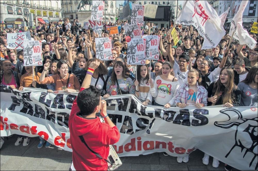 """Ana Garcia (Spaanse studentenvakbond): """"Als we strijden, kunnen we winnen!"""""""