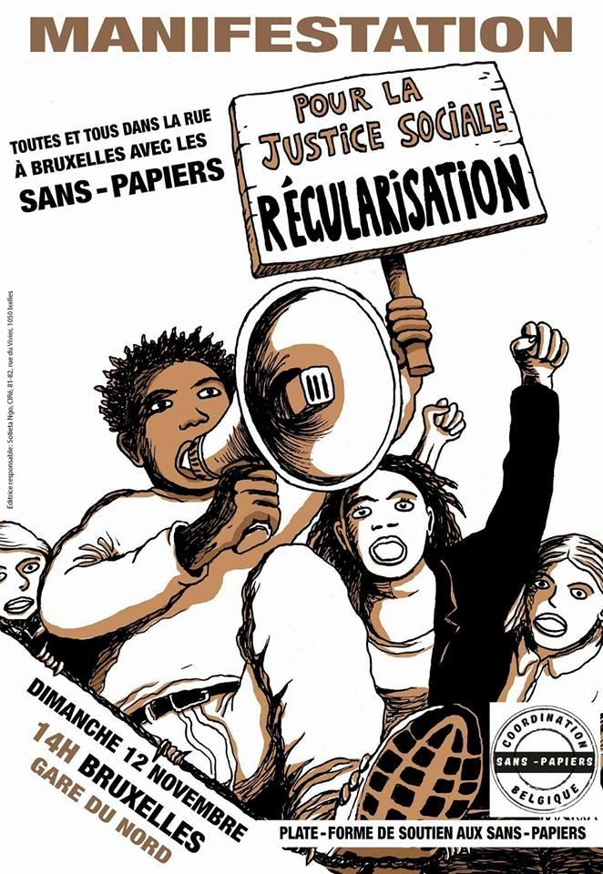 Samen tegen het beleid van de regering-Michel/Francken