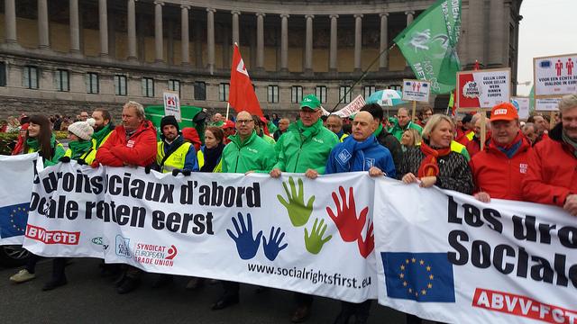 Vakbondsbetoging voor een sociaal Europa