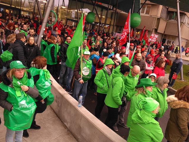 Luik: personeel ziekenhuis CHR in actie tegen besparingen