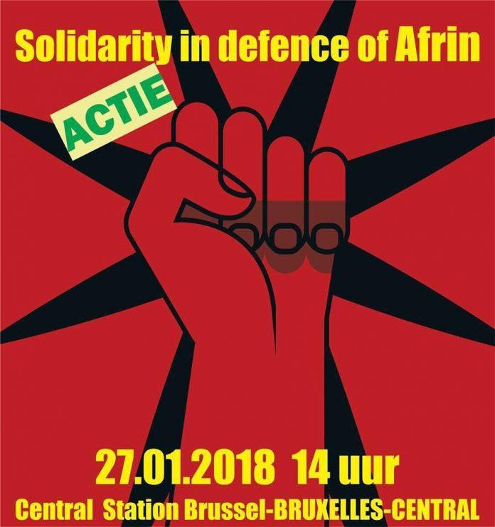 Zaterdag betoging tegen Turkse inval in Afrin
