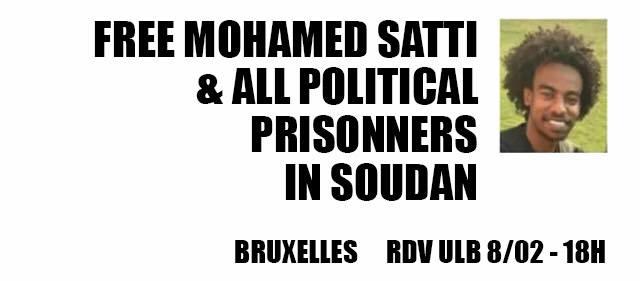 """Actie """"Laat Mohamed Satti vrij"""" en """"Stop de repressie in Soedan"""""""