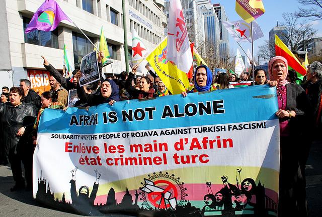Stop de aanval op Rojava!