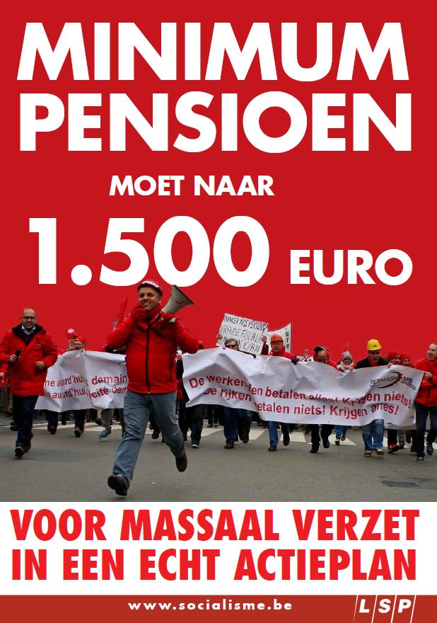 16 mei: massaal  betogen voor  degelijke pensioenen