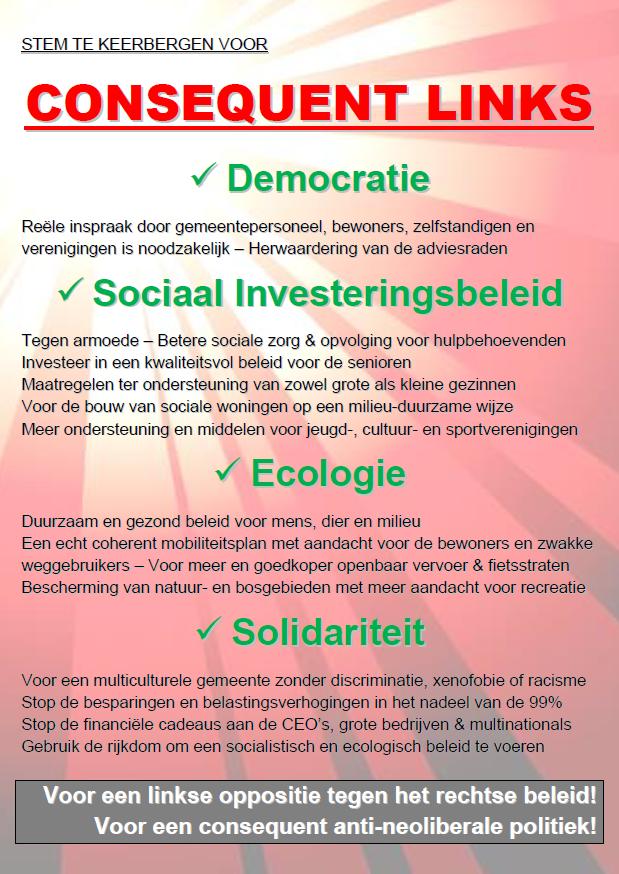 """Pamflet: """"Stem Consequent Links in Keerbergen"""""""