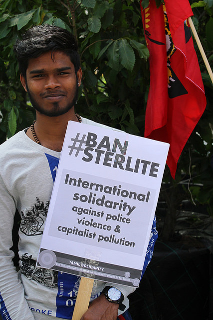 Protest tegen dodelijke repressie in India