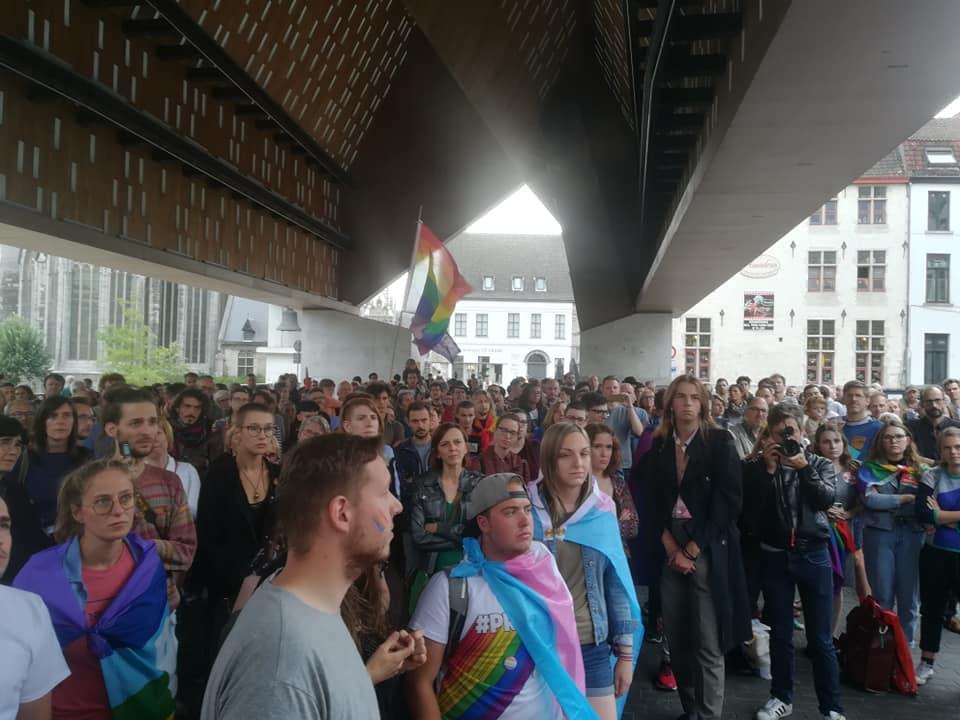 Protest tegen homofoob geweld in Gent: LGBTQI+strijd meer dan ooit nodig!