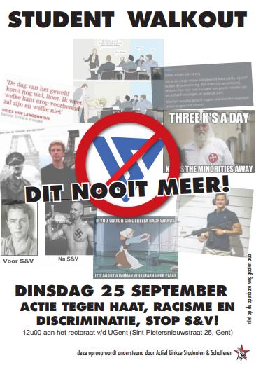Protest tegen racisme en Schild&Vrienden in Leuven