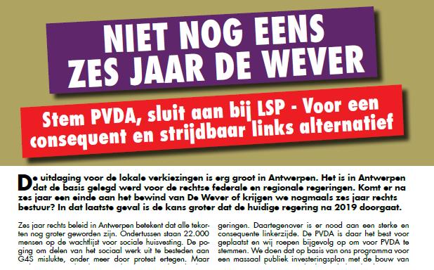 Niet nog eens zes jaar De Wever!