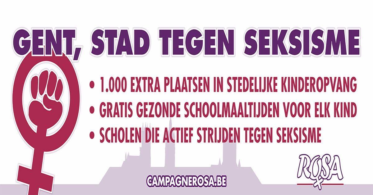 Campagne ROSA eist in Gent concrete maatregelen in strijd tegen seksisme