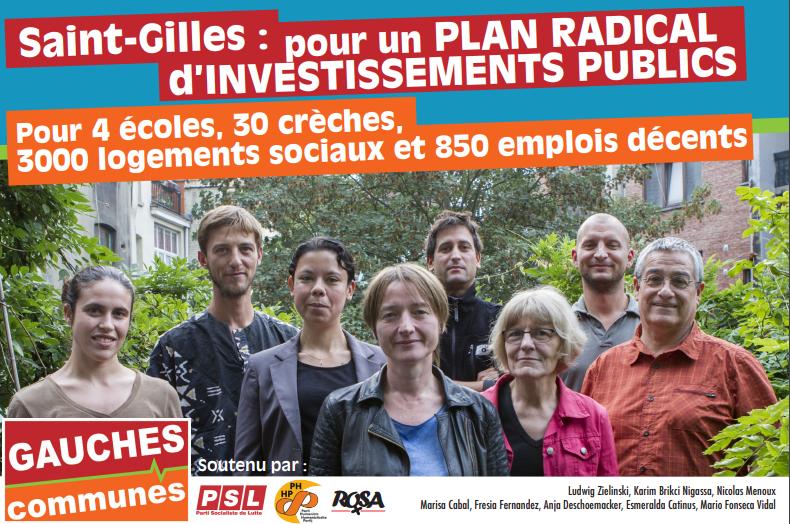 Sint-Gillis. Programma van Gauches Communes: samen strijden om financieel keurslijf te doorbreken