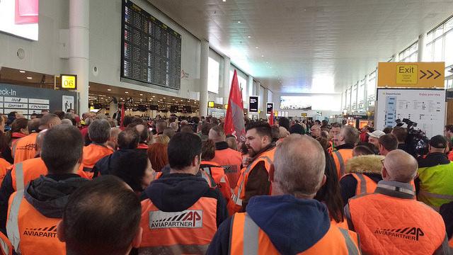 Solidariteit met het personeel van Aviapartner
