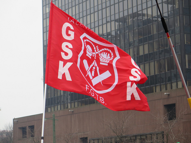 Werkonderbreking bij GSK: neen aan uitbestedingen!