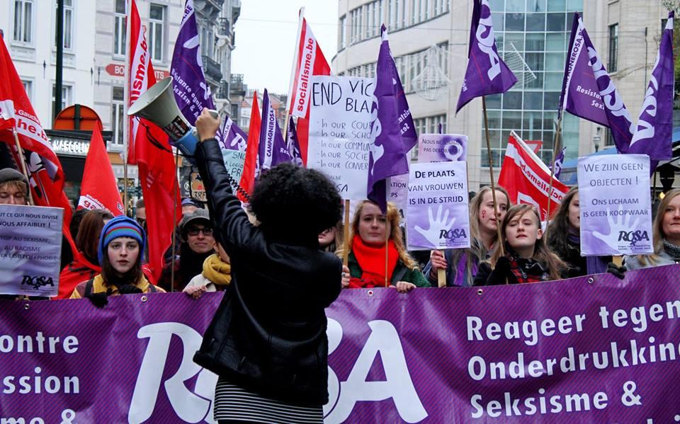 Grote betoging tegen geweld op vrouwen