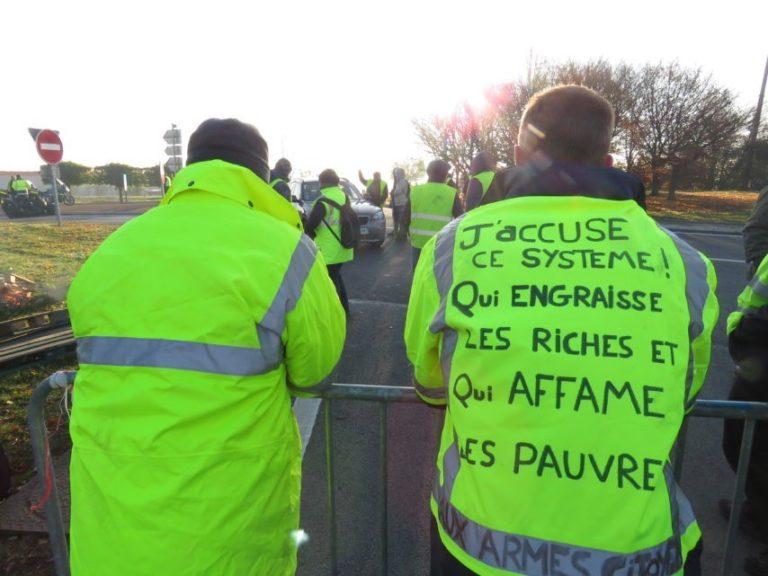 """Woede van de """"gele hesjes"""" is terecht, strijd tegen dit systeem nodig"""