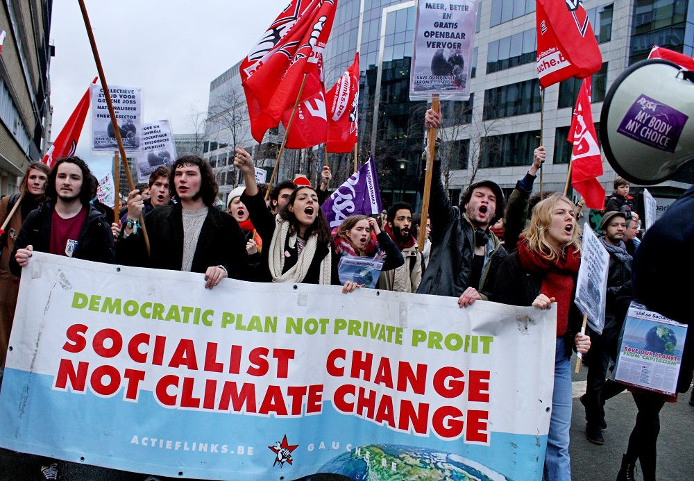 Klimaatprotesten doorzetten! Het kapitalisme zet de planeet in brand