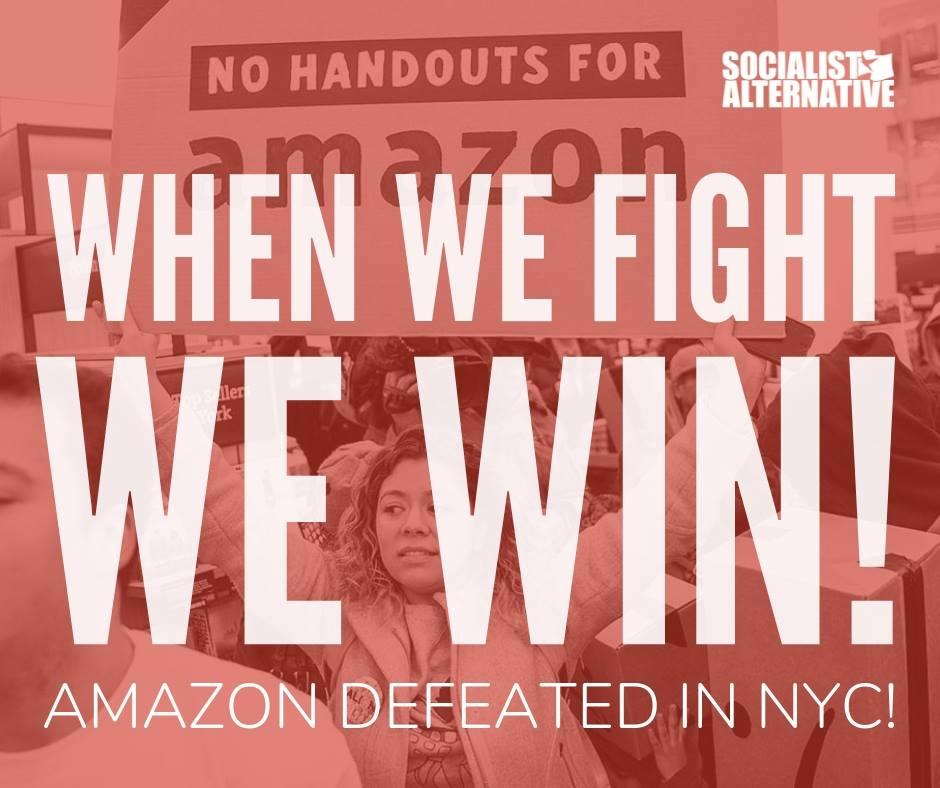 Amazon trekt zich terug uit deal met New York City. Overwinning voor verzet werkende klasse!