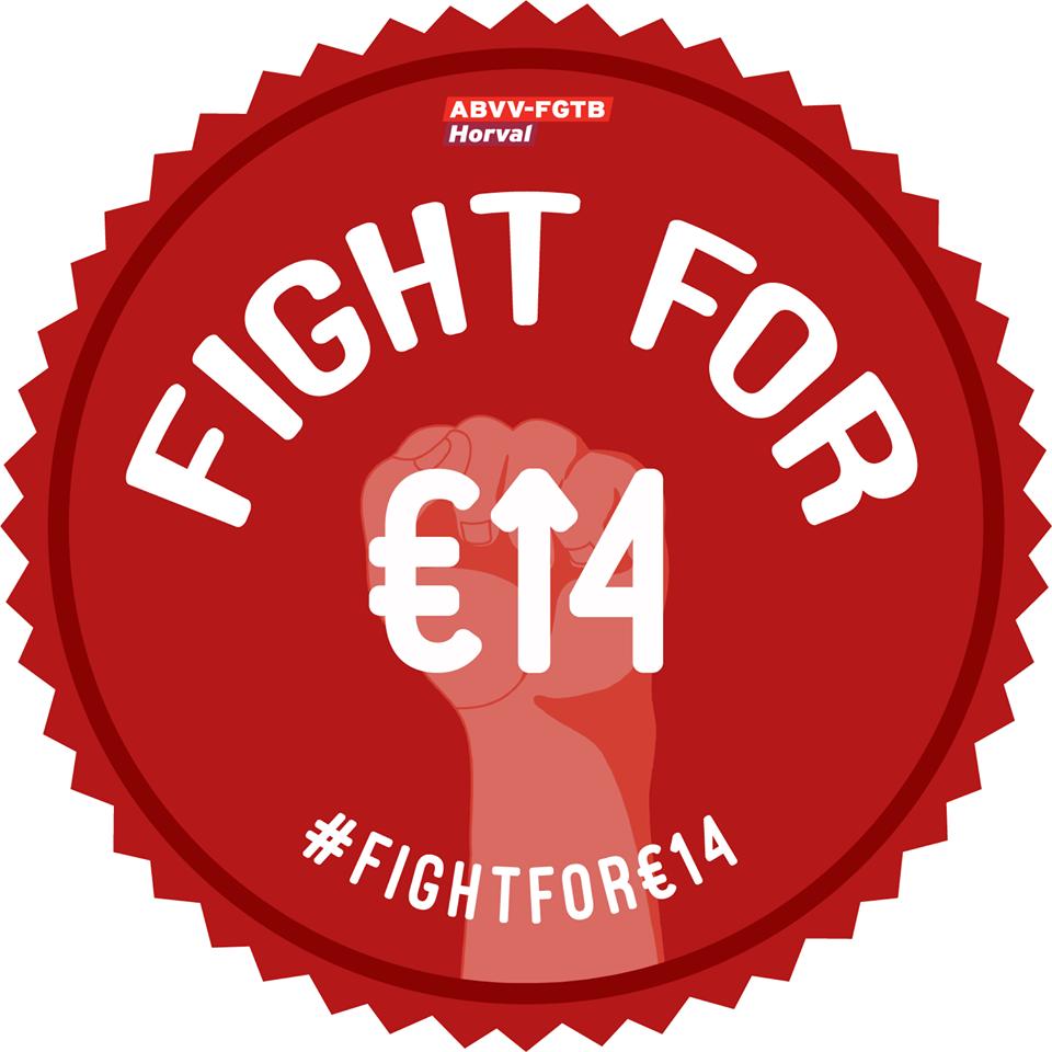 Verhoog de minimumlonen: 'Fight for €14'
