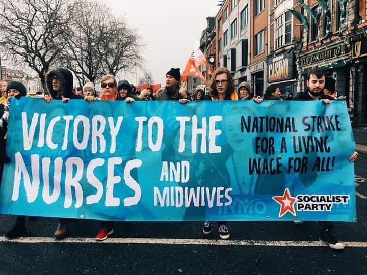 Dublin: 40.000 op betoging in solidariteit met stakende verpleegkundigen