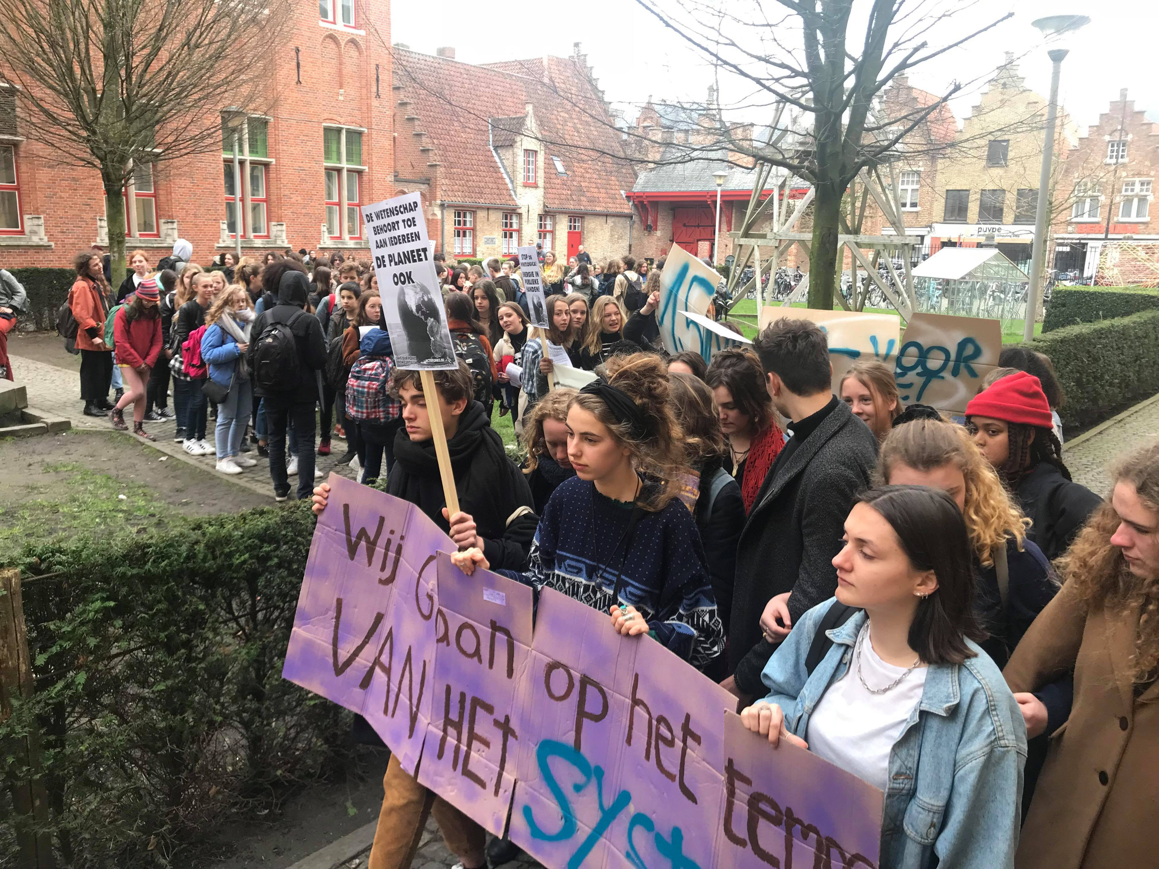 Actie scholieren Brugse kunsthumaniora
