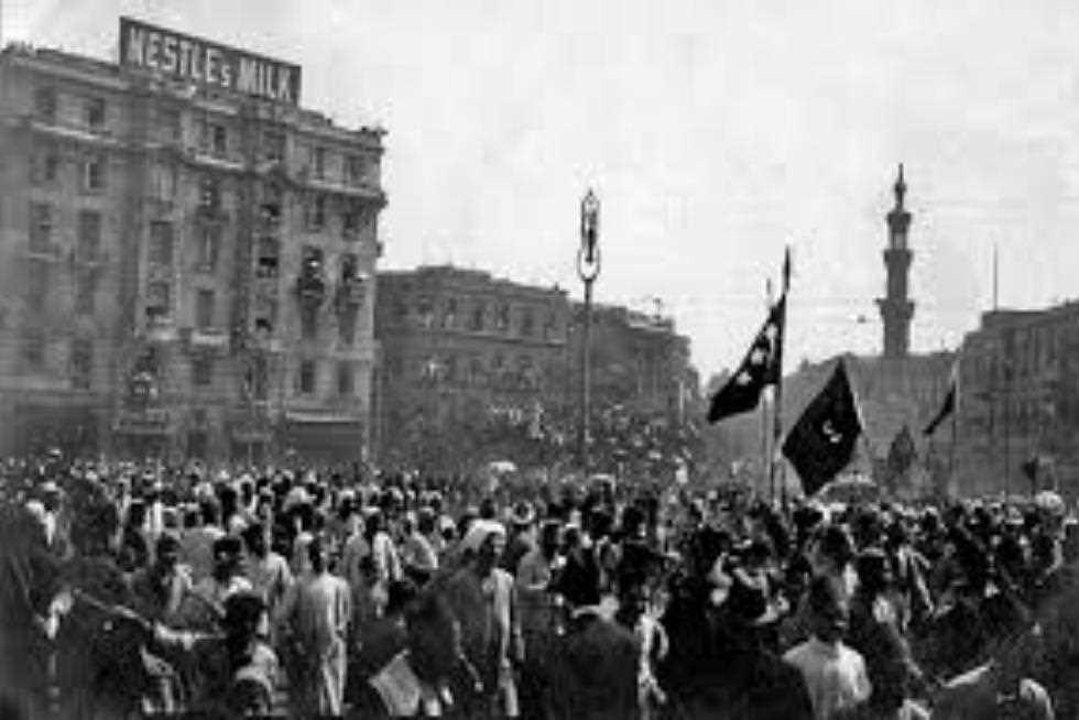 1919: revolutie in Egypte