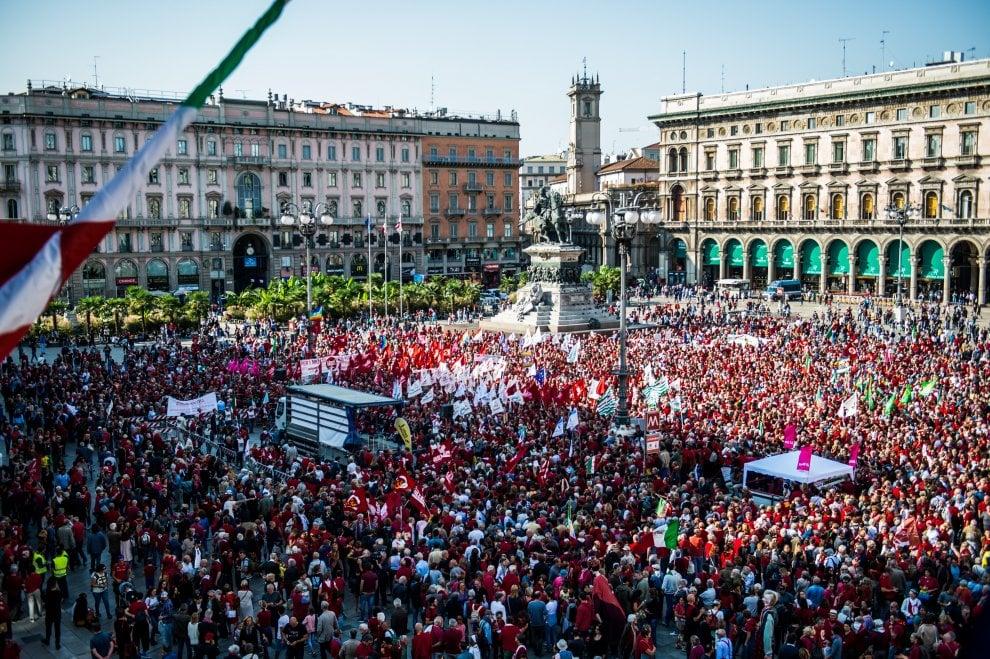 Uitstekende antiracistische betoging in Milaan