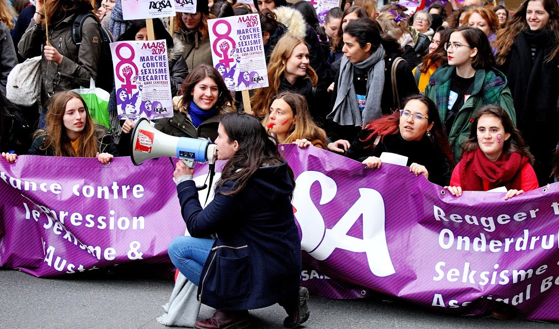 8 march 2019 in Belgium: a return to combative traditions on International Women's Day