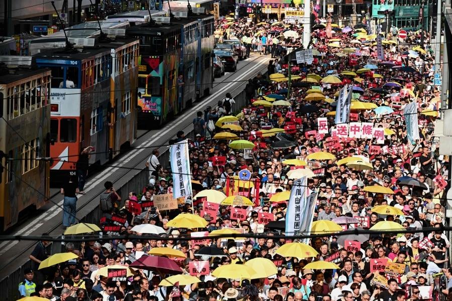 Massaal protest in Hongkong: 130.000 betogers tegen repressief beleid