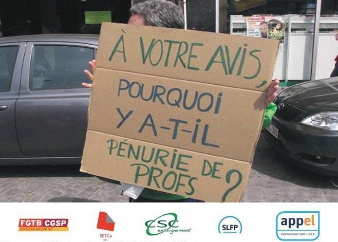 Acties in Franstalig onderwijs. Meer publieke middelen voor onderwijs!