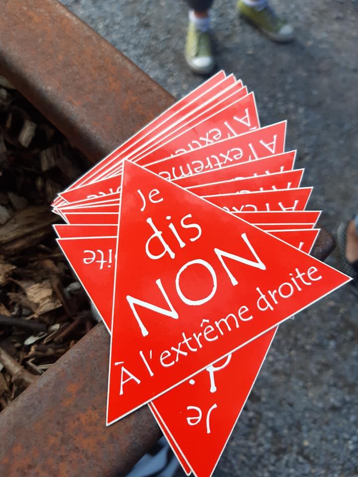 Antifascistische betoging in Luik: foto's